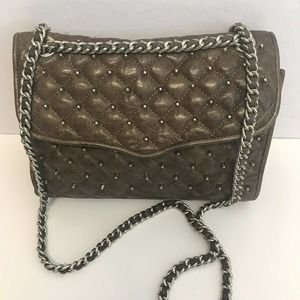 Rebecca Minkoff Studded Quilted Affair Bag Brown